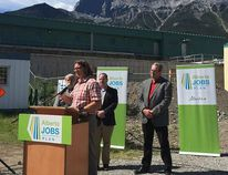<p>Andreas Comeau, manager of public works with the Town of Canmore, talks about upgrades to the town's wastewater treatment plant at a press conference in Canmore on June 27, 2016. Colette Derworiz / Postmedia