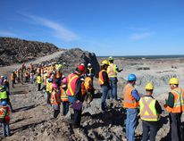 Delegates attending the Canadian Land Reclamation Association conference in Timmins got a tour of the Hollinger open mine pit on Wednesday.