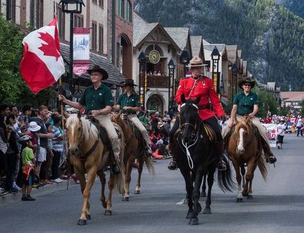 Canada Day parade in Banff in 2015. Crag & Canyon Archives