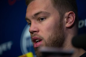 Taylor Hall was always willing to step in front of the cameras and mics and take the heat for the Oilers failures. (Topher Seguin)