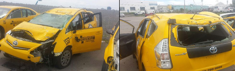 Calgary taxi driver attacked