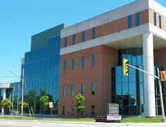 Owen Sound Superior Court of Justice, Owen Sound. Photo by Zoe Kessler/Wiarton Echo