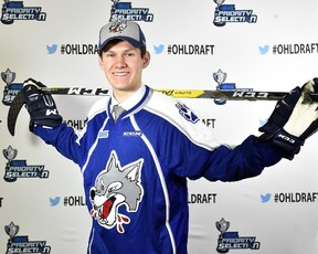 Sudbury Wolves 2016 top draft pick Owen Lalonde signed with the local OHL outfit in this file photo. The Wolves traded Lalonde on Wednesday.