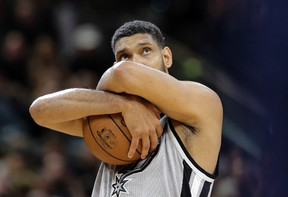 San Antonio Spurs centre Tim Duncan is likely taking his ball and going home. (AP Photo/Eric Gay)