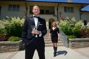 Jeff Wybo and Samantha Kiefer will be part of a Thursday fundraiser called Shaken or Stirred in support of the Elsie Perrin Williams Estate. (MORRIS LAMONT, The London Free Press)