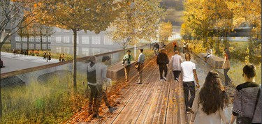 Artist's rendering of the proposed Railside development at The Forks.