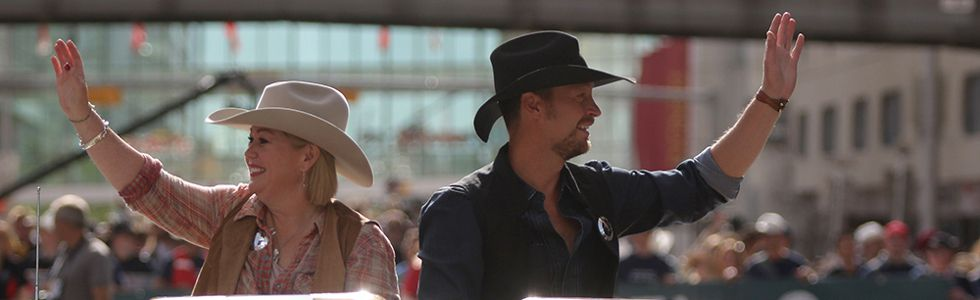 Calgary Stampede parade marshals Jann Arden and Paul Brandt