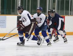 Participants take part in the Hockey Camp of Hope at the Gerry McCrory Countryside Sports Complex in Sudbury, Ont. on Tuesday July 12, 2016. Gino Donato/Sudbury Star/Postmedia Network