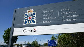 A sign for the Canadian Security Intelligence Service building is shown in Ottawa, Tuesday, May 14, 2013. THE CANADIAN PRESS/Sean Kilpatrick