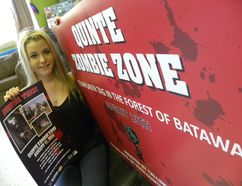 Ernst Kuglin/The Intelligencer Quinte West Youth Centre events assistant Sam White is encouraging residents to register for the fourth annual Quinte Zombie Zone, Saturday Aug. 14 at the Batawa Ski Hill. Registration links can be found on the Youth Centre's Zombie Zone website or Facebook page.