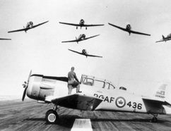 The Harvard was a cornerstone of pilot training in Canada during the Second World War. The Canadian Harvard Aircraft Association of Tillsonburg is in the process of salvaging parts of a Harvard that crashed off Crystal Beach in Lake Erie in 1943. (Contributed Photo)