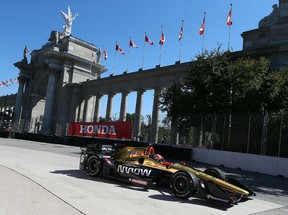 James Hinchcliffe in practice for the Honda Indy. (Dave Abel, Toronto Sun)