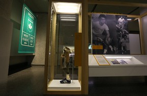 Terry Fox's prosthetic leg is among the items on display in the exhibit Terry Fox: Running to the Heart of Canada at the Manitoba Museum on Wed., July 13, 2016. Kevin King/Winnipeg Sun/Postmedia Network