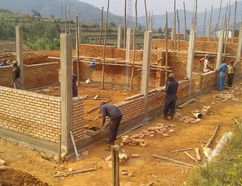 Photo supplied Construction is underway on a primary school in Kavumu, Rwanda that is being built by the organization Le chemin de la lumiere. So far, 150 students have registered.