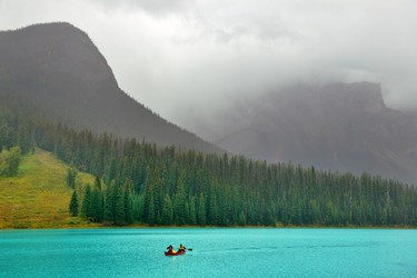 Emerald Lake, British Columbia: One of the crown jewels of Yoho National Park, Emerald Lake (if you're looking for a splurge, a stay at Emerald Lake Lodge will not disappoint), might be the ultimate lake for a paddle … or a picture. Hemmed in on all sides by towering peaks, this pristine lake is always worth the 20-minute side trip off the Trans Canada Highway near Field. (Getty Images)