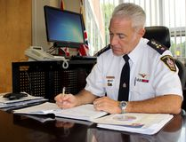 Chatham-Kent police Chief Gary Conn has ordered a review of the police service's policies Search of Persons and Prisoner Care and Control following criticism of bra seizures performed on women placed in a holding cell while in police custody on Tuesday July 19, 2016 in Chatham, Ont. (Vicki Gough/Chatham Daily News/Postmedia Network)