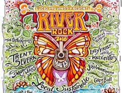 The second River Rock Music Festival takes place just outside of St. Marys on Aug. 13. (Artwork by Mandy Verge)