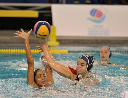 Canada's junior women's water polo team defeats Puerto Rico 91-9 on Monday night at Kinsmen Pool. Photo supplied, Water Polo Canada.