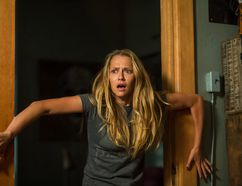 """Teresa Palmer appears in a scene from the horror film, """"Lights Out."""""""