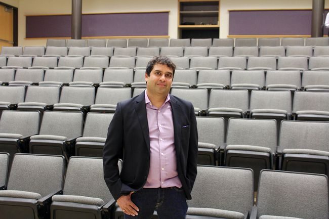 <p>Sumit Oberai, former chief information officer of Indigo and senior vice president of digital development at RBC, visited Queen's University in Kingston, Ont. on July 21, 2016 to talk to young members in the SHAD program about digital disruption. The SHAD program is a national program for gifted high school students offering opportunities in science, technology and entrepreneurship at universities across Canada. Jane Willsie for The Whig-Standard/Postmedia Network