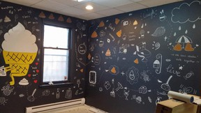 Graphical characters decorate the inside of a new poop cafe opening in Toronto. Handout/Postmedia Network