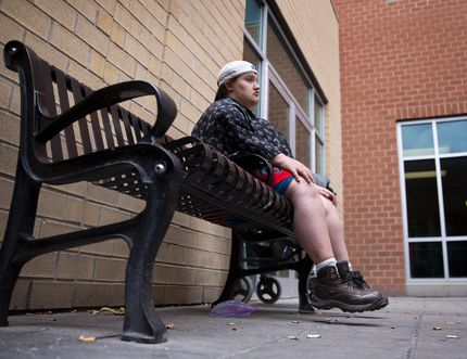 Jenny Finch, who was displaced from an Oxford Street group home following a fire in November 2014, was living at the Salvation Army Centre of Hope in May. A letter writer is worried the city's proposed bylaw regulating group homes could add to homelessness. (CRAIG GLOVER, The London Free Press)