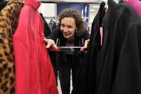 Connie Spuria, communications and public relations manager, Mission Services of London, at the organization's new thrift store at 797 York Street in London, Ont. CHRIS MONTANINI\LONDONER\POSTMEDIA NETWORK