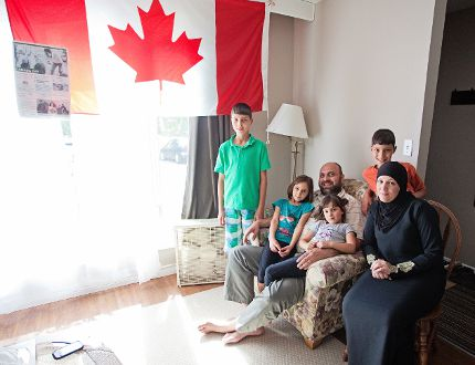 The Hosni family is settling into Napanee and embracing Canada as their new home. Now they need the community's help to get Razan's sister out of a bad living situation in Jordan. (Meghan Balogh/Postmedia Network)