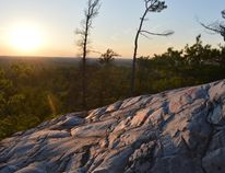 Jim Moodie/Sudbury Star Late sunlight burnishes the quartzite flank of Willisville Mountain.