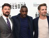 "(L-R) Karl Urban, Idris Elba and Chris Pine attend the ""Star Trek Beyond"" New York Premiere at Crosby Street Hotel on July 18, 2016 in New York City. (Photo by Jamie McCarthy/Getty Images)"