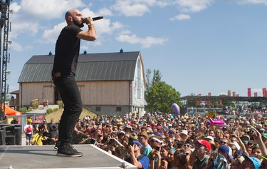 X Ambassadors performs at the 2016 Wayhome Music and Arts Festival held in Oro-Medonte, Ont. Saturday, July 23, 2016. MATT DAY/Special to Postmedia