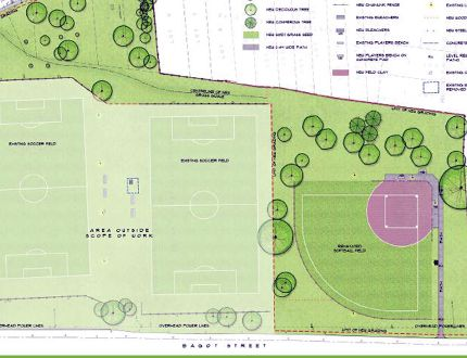 North-end residents are being asked to choose between a softball field and a soccer field for the new Caton's Field. (City of Kingston)