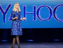 Yahoo president and CEO Marissa Mayer delivers a keynote address at the 2014 International CES at The Las Vegas Hotel & Casino on Jan. 7, 2014 in Las Vegas. (Photo by Ethan Miller/Getty Images)