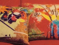 Judy Brady's designer cushions. Brady will be the Goderich Coop Gallery's guest artist for the month of August. (Contributed photo)
