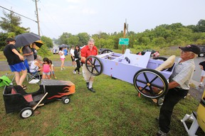 Intelligencer file photo Soap box derby races have become a popular attraction during the annual Consecon Community Day. Last year's races attracted 48 entrants. This year's race takes place on Saturday.