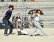 The Simcoe Giants' Tier 1 mosquitos got off to slow start at this weekend's tournament at Lions Park but stormed back for a Game 1 win over the Walker Home Site Hawks. Attempting to kick-start the offence in the early going was Giants' slugger Keidon McGinn. (MONTE SONNENBERG Simcoe Reformer)