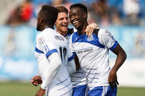 Pape Diakite will be back in the lineup when FC Edmonton takes on the New York Cosmos on Wednesday. (Ian Kucerak)