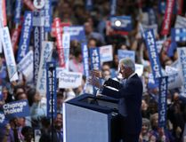 Former US President Bill Clinton delivers remarks on the second day of the Democratic National Convention at the Wells Fargo Center, July 26, 2016 in Philadelphia, Pennsylvania. Democratic presidential candidate Hillary Clinton received the number of votes needed to secure the party's nomination. An estimated 50,000 people are expected in Philadelphia, including hundreds of protesters and members of the media. The four-day Democratic National Convention kicked off July 25. (Photo by Chip Somodevilla/Getty Images)