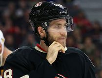 Mike Hoffman of the Ottawa Senators against the Florida Panthers during second period of NHL action at Canadian Tire in Ottawa, April 7, 2016. (Jean Levac/Postmedia Network File Photo)