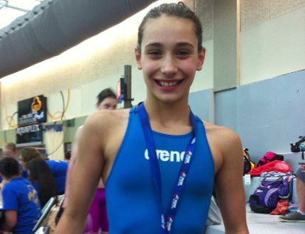 Grande Prairie Piranhas swimmer Catherine Minic is swimming in the 50m, 100m and 200m Butterfly, as well as the 100m, 200m, 400m Freestyle, and 200m and 400m Individual Medley U12 female events at the Canadian Age Group Championships in Calgary this week. PHOTO SUBMITTED
