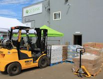 A forklift and pallet jack sit outside of the Wood Buffalo Food Bank on Wednesday, July 27, 2016.These pieces of equipment were recently purchased thanks to a $1 million donation from the Canadian Red Cross. Kyle Darbyson/Fort McMurray Today/Postmedia Network.