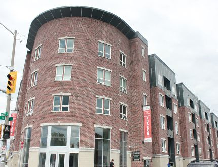The Patry Inc. apartment building at the former 663 Princess St., pictured here in Kingston, has removed its unit number since changing its address to 655. The City of Kingston has yet to receive an application, or approve, the switch. (Victoria Gibson/For The Whig-Standard)