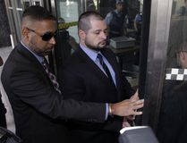 Const. James Forcillo enters the courthouse at 361 University Ave. for his sentencing on an attempted murder conviction in the shooting death of Sammy Yatim on a TTC streetcar in July 2013. (Ernest Doroszuk/Toronto Sun)