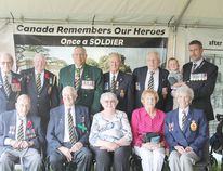 Members of the Wetaskiwin Royal Canadian Legion No. 86 were invited to take in the Wetaskiwin Air Show in VIP accommodations July 20.
