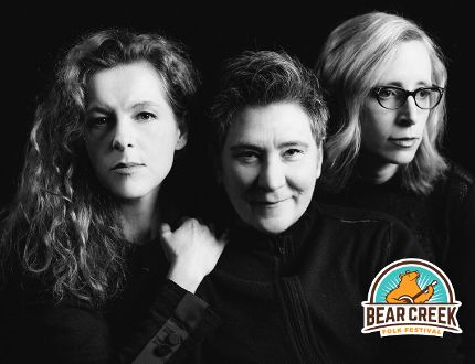 k.d. lang,Neko Case, and Laura Veirs will play the Bear Creek Folk Festival Aug. 12-14. (Photo Submitted)
