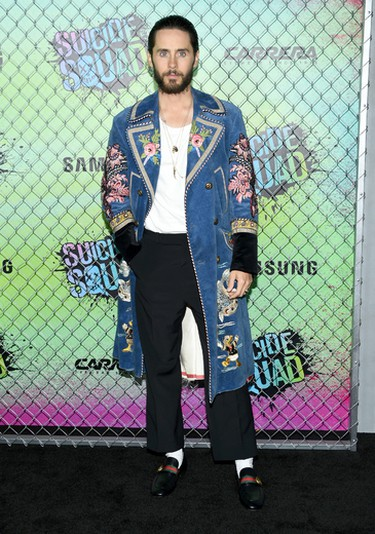 """Jared Leto attends the world premiere of """"Suicide Squad"""" at the Beacon Theatre on Monday, Aug. 1, 2016, in New York. (Photo by Evan Agostini/Invision/AP)"""