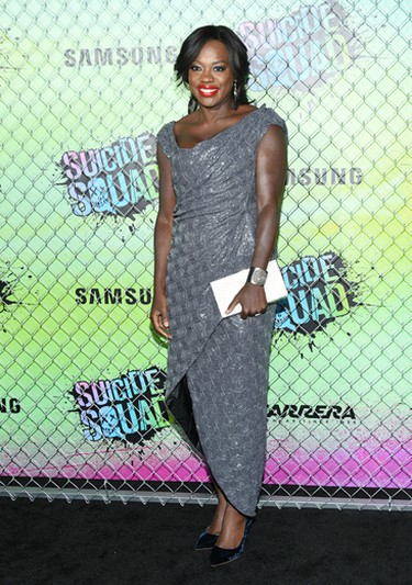 """Viola Davis attends the world premiere of """"Suicide Squad"""" at the Beacon Theatre on Monday, Aug. 1, 2016, in New York. (Photo by Evan Agostini/Invision/AP)"""