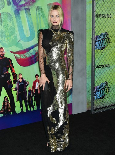 """Margot Robbie attends the world premiere of """"Suicide Squad"""" at the Beacon Theatre on Monday, Aug. 1, 2016, in New York. (Photo by Evan Agostini/Invision/AP)"""