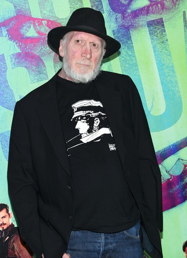 """Frank Miller attends the world premiere of """"Suicide Squad"""" at the Beacon Theatre on Monday, Aug. 1, 2016, in New York. (Photo by Evan Agostini/Invision/AP)"""