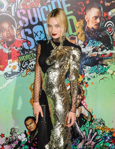 """Margot Robbie attends the world premiere of """"Suicide Squad"""" at the Beacon Theatre on Monday, Aug. 1, 2016, in New York. (C.Smith/WENN.com)"""